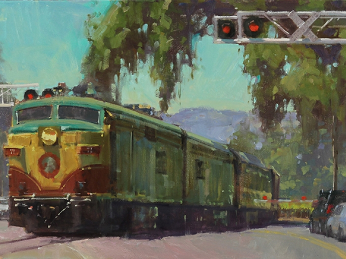 Randall Sexton, Worth The Wait, 2013. Oil on canvas, 24 x 48 inches. Courtesy of the artist.