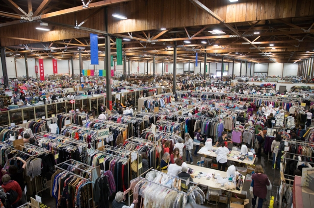 The White Elephant Sale is in a 96,000 square foot warehouse. Photo: Odell Hussey Photography