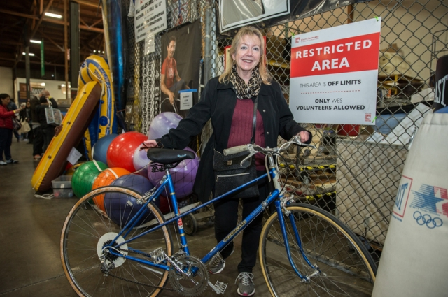 Take the free BART shuttle to and from the sale... or buy a bike and ride it home! Photo: Odell Hussey Photography