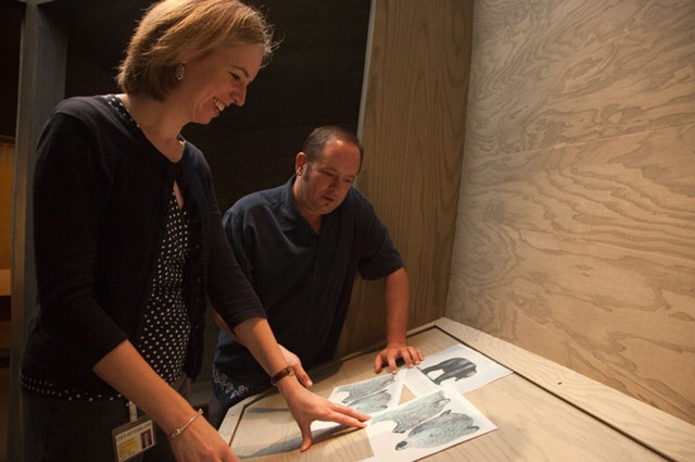 OMCA Senior Curator of History Louise Pubols at work on the Gallery of California History