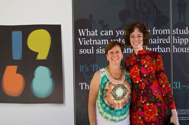 OMCA CEO and Director Lori Fogarty and Senior Curator of History Louise Pubols at the 1968 Exhibit in 2012.
