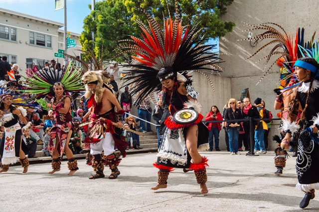 Aztec and Mesoamerican dancing at the Oakland Museum of California Community Celebration
