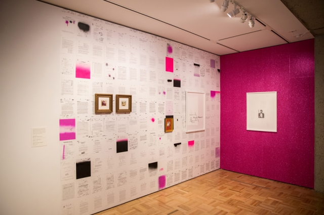 Sadie Barnette's installation about her father at the Oakland Museum of California for the exhibition All Power to the People: Black Panthers at 50. Photo: Odell Hussey Photography