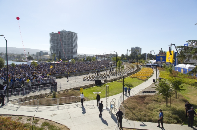 Oakland gathered for the Warriors Championship Parade. Photo: Oakland Museum of California