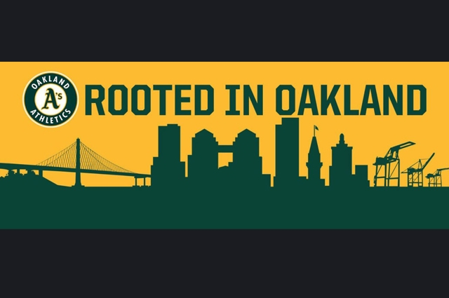 Text that says As Rooted In Oakland