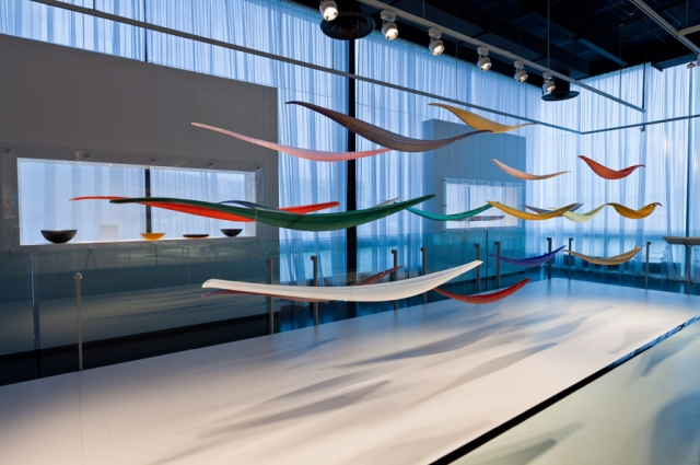 Contemporary Glass Gallery at the Corning Museum of Glass. Image courtesy of The Corning Museum of Glass.