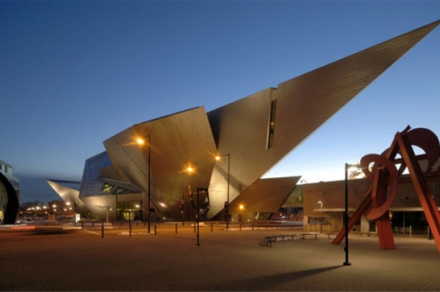 A view of the Frederic C. Hamilton Building, Denver Art Museum. Image courtesy of Studio Daniel Libeskind.