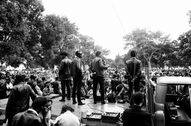 Kenneth P. Green, Sr., Untitled (Free Huey Rally, DeFremery Park), 1968. © Kenneth P. Green Photography Collection, courtesy of Kenneth Green, Jr.