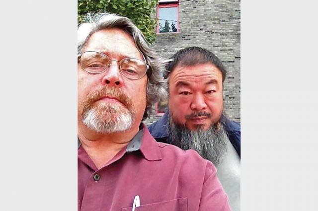 Jeff Kelley and Ai Weiwei.