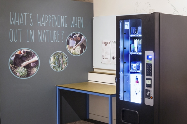 Oakland Museum of California's Citizen Science Vending Machine helps visitors participate in citizen science projects