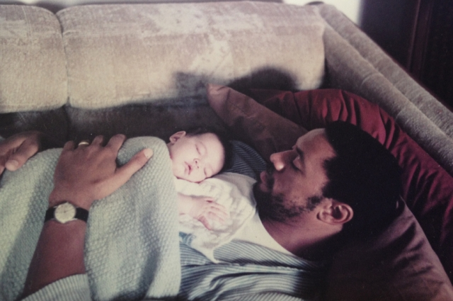 A family photo of former Black Panther Rodney Barnette and daughter Sadie Barnette. Photo courtesy of Rodney and Sadie Barnette