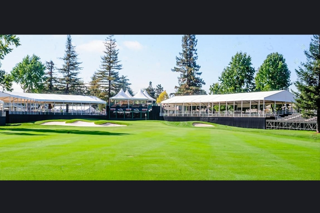 Safeway Open tents on a golf course