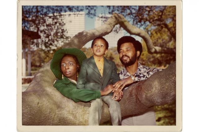 A family portrait featuring Kenneth Green Jr. and his parents. Courtesy of Kenneth Green, Jr.