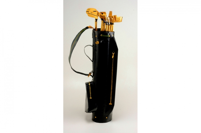 Libby Black, Gucci Golf Bag, 2004. Mixed media, H: 45 in, W: 19 in, D: 10 in. Acquired through funds provided by Judy and Bill Timken