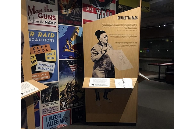 Charlotta Bass image and biography on view in the Gallery of California History