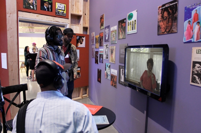 A video piece inside Ester's Orbit Room portrays the creative community in West Oakland as a historic blues district.