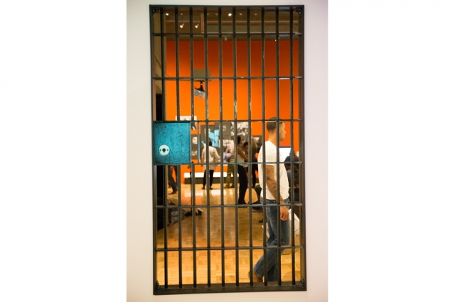 An installation of a former Oakland Police Station jail cell in All Power to the People: Black Panthers at 50. Photo: Odell Hussey Photography