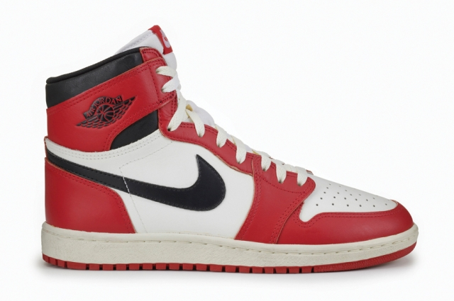 Nike, Air Jordan I, 1985. Nike Archives. Courtesy American Federation of Arts