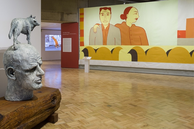 Fertile Ground: Art and Community in California, installation view, September 20, 2014 – April 12, 2015, jointly organized by the Oakland Museum of California and the San Francisco Museum of Modern Art; photo: Johanna Arnold