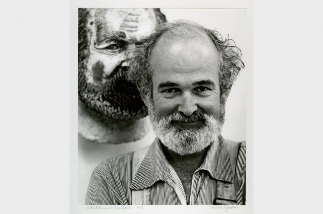 Mimi Jacobs, Robert Arneson, Sculptor, 1975; Gelatin silver print; 12.5 x 10.75 in; Collection of the Oakland Museum of California, Gift of Mimi Jacobs