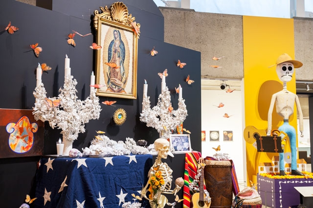 Altar/ofrenda by Rafael Jesus Gonzalez at Metamorphosis and Migration: Days of the Dead at Oakland Museum of California 2017