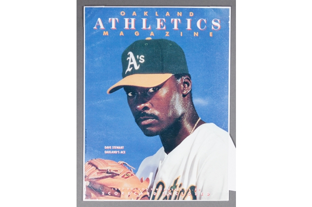 Oakland Athletics Magazine cover featuring Dave Stewart