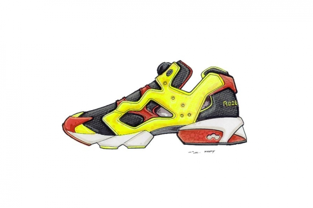 Art for the Reebok Instapump Fury. Courtesy of Steven Smith