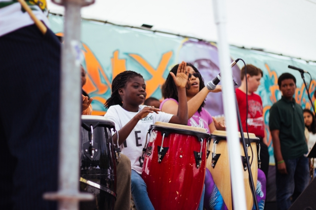 A musical performance at the Malcolm X Jazz Festival. Photo: Kristian Contreras