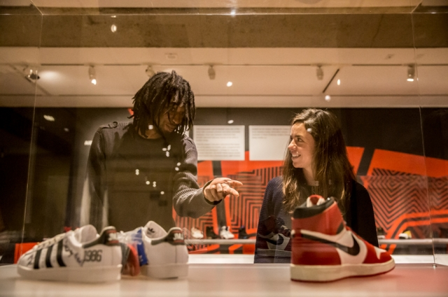 Kenny Donaville in the exhibition Out of the Box: The Rise of Sneaker Culture. Photo: Odell Hussey Photography