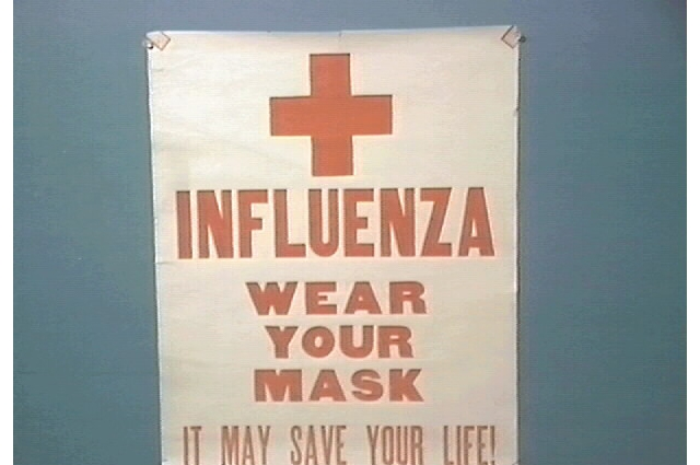 Public health poster from 1918