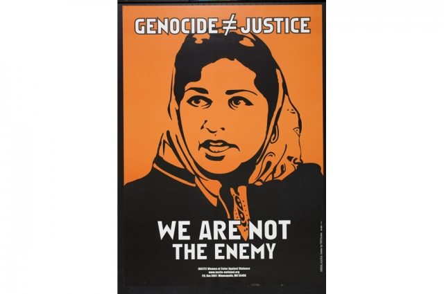 Favianna Rodriguez, We are not the Enemy, 2001. Offset lithograph, H: 24 in, W: 17 in. All Of Us Or None Archive. Gift of the Rossman Family.