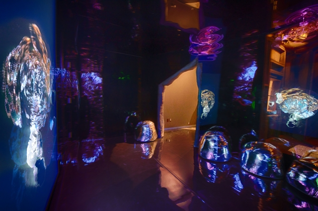 Torreya Cummings, Notes from Camp (AKA Transdimensional Ghost Town Discotheque), 2016. Mixed media, dimensions variable. Installation view. Photo: Terrence McCarthy