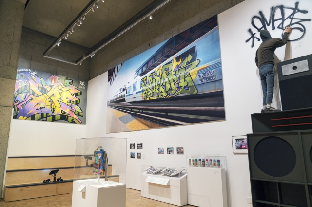 Graffiti work by Vogue on display in RESPECT