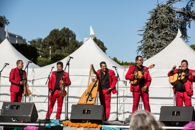 Mariachi band playing on stage