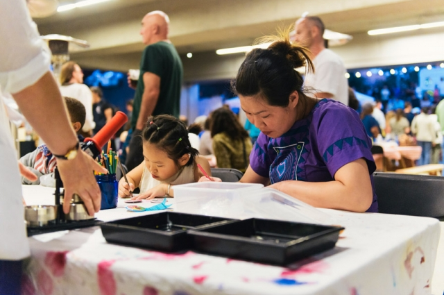 2.  Free monthly themed family-friendly drop-in art activities are a popular draw for young ones and adults alike during Friday Nights @ OMCA.  Credit: Courtesy of Oakland Museum of California. Photo: Shaun Roberts.