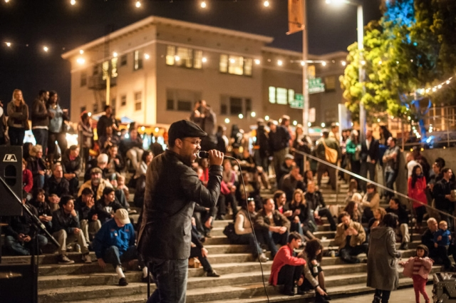6. DJs and live musicians enliven the 10th Street Amphitheater during Friday Nights @ OMCA with monthly music themes ranging from jazz and blues to country and world music.  Credit: Courtesy of Off the Grid. Photo: Marc Fiorito.
