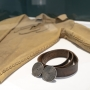 Deerskin shirt and belt that J.B. Blunk wore.