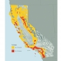 Map of fire risk areas in California