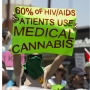 A protester holds up a sign at San Diego Gay Pride in 2012 reading: 60% of HIV/AIDS patients use medical cannabis. Credit: Nathan Rupert, 60%, 2012. Creative Commons Attribution-NonCommercial-NoDerivs 2.0 Generic