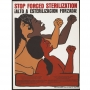 Poster of three women of color that reads: Stop Forced Sterilization. Alto a esterilizacion forzada