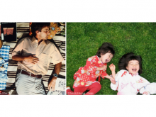 (Right) Man on grass in Powers of Ten film by Charles and Ray Eames. (Left) Children on grass in similar posture.
