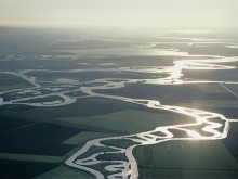 Aerial photo of the Sacramento-San Joaquin Delta