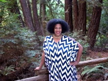 Rue Mapp, founder of Outdoor Afro, in Redwood Regional Park. Photo: Terry Lorant