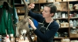 Alicia Goode works meticulously on a taxidermy seagull inside of a workshop