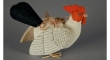 Silk chicken toy from the 1920s