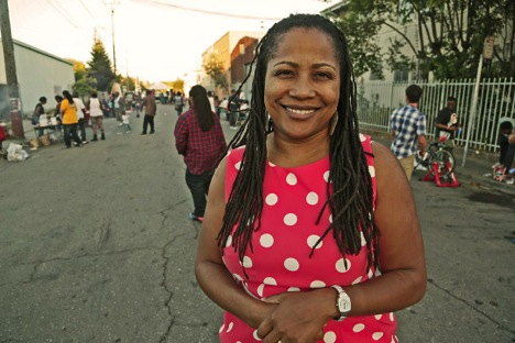 District 3 City Council member Lynette Gibson McElhaney in West Oakland.